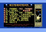 Mindbender Commodore 64 The main menu