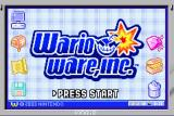 WarioWare, Inc.: Mega Microgame$! Game Boy Advance Title Screen, looks like XP...