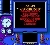 Earthworm Jim: Menace 2 the Galaxy Game Boy Color Selecting the next stage.
