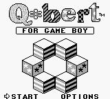 Q*bert Game Boy Title screen