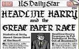 Headline Harry and The Great Paper Race DOS Title Screen