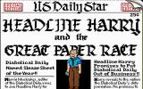 Headline Harry and The Great Paper Race DOS Meet Harry