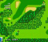 Naxat Open TurboGrafx-16 Can't really aim directly at the hole, beacuase of the trees