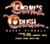 Devil's Crush TurboGrafx-16 Title screen