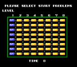 Puzznic TurboGrafx-16 The level selection grid