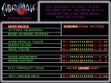CyberMage: Darklight Awakening DOS Options screen