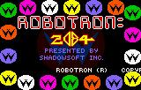Robotron: 2084 Lynx The colorful title screen