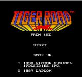 Tiger Road TurboGrafx-16 Title screen