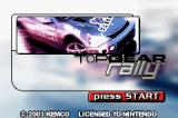 Top Gear Rally Game Boy Advance Title screen