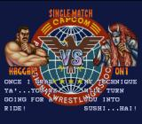 Saturday Night Slam Masters SNES The usual trash talk before a fight