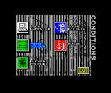 World Class Rugby ZX Spectrum Screen colours can be set - other versions have more weather options