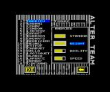 World Class Rugby ZX Spectrum But the ratings can be edited