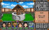 Might and Magic: World of Xeen DOS Wells and fountains usually hold magic surprises... or poison and diseases