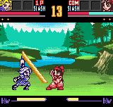 Samurai Shodown II Neo Geo Pocket Color Charlotte has some advantage with this sword move, but her energy is lower than Nakoruru's.