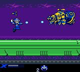 Mega Man Xtreme Game Boy Color Blasting the X-Buster in a big flying droid: pay attention and avoid its missiles!