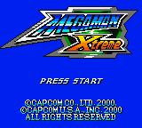 Mega Man Xtreme Game Boy Color Title screen.