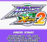 Mega Man Xtreme 2 Game Boy Color Title screen.