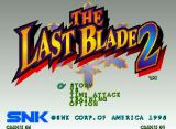 The Last Blade 2 Neo Geo Title screen and main menu.