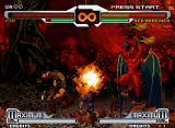 SVC Chaos: SNK vs. Capcom Neo Geo A tough, burning match: Kyo uses his power to defeat Red Arremer and accomplices in Netherworld.