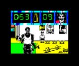 Daley Thompson's Olympic Challenge ZX Spectrum Doing dumbbell reps to build up strength