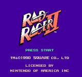 Rad Racer II NES Title screen