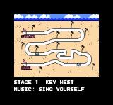 Rad Racer II NES Each level begins with an overview of the track