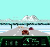 Rad Racer II NES Yikes, multiple cars in the way, be careful