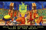 Crash Nitro Kart Game Boy Advance Introduction frame – The Emperor Velo XXVII meets the racers and explain its main purposes for them.