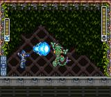 Mega Man X SNES Fighting against Sting Chameleon