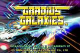 Gradius Galaxies Game Boy Advance Title screen