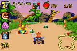 Crash Nitro Kart Game Boy Advance When the victim is locked on target, shoot out the missil!