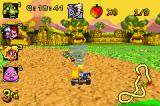 Crash Nitro Kart Game Boy Advance Coco Bandicoot launches a tornado to attack the pilots and try improve her race position.