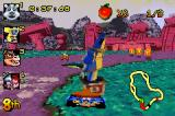 Crash Nitro Kart Game Boy Advance Crunch crashes at high speed and this is the result...