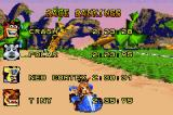 Crash Nitro Kart Game Boy Advance Race results display.