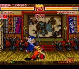 "Samurai Shodown SNES Ukyo ""sharpens"" his sword in Kyoshiro!"