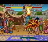 Super Street Fighter II SNES Fei Long's Shien Kyaku is the newest burning move of the game.