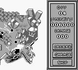 Lamborghini: American Challenge Game Boy Race map (race menu in the right side).