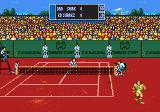 Davis Cup Tennis Genesis Should be well-placed to return this one