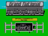 Grand National ZX Spectrum The pre-race screen