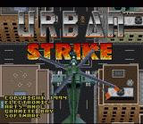 Urban Strike SNES Title Screen