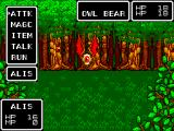 Phantasy Star SEGA Master System Battle in a forest