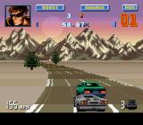 Lamborghini: American Challenge SNES Sometimes, an intruder car can appear and cause unexpected crashes... :-(