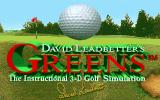 David Leadbetter's Greens DOS Title screen