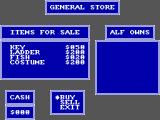 ALF SEGA Master System Buying things in a general store