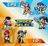 SNK vs. Capcom: The Match of the Millennium Neo Geo Pocket Color Selecting the battle order (only in Tag and Team Modes).