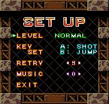 Metal Slug 1st Mission Neo Geo Pocket Color Adjusting game options.