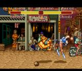 Super Street Fighter II SNES Trying to avoid Chun-Li's counter-attack, Blanka begins his Rolling Attack.