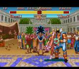 "Super Street Fighter II SNES Sometimes, a strong move can remove ""blood"" from opponent's face."