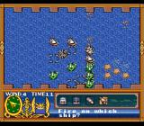 Uncharted Waters SNES Turn-based sea battles