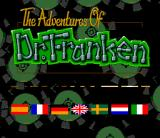 The Adventures of Dr. Franken SNES European title screen: lots of languages to select from...